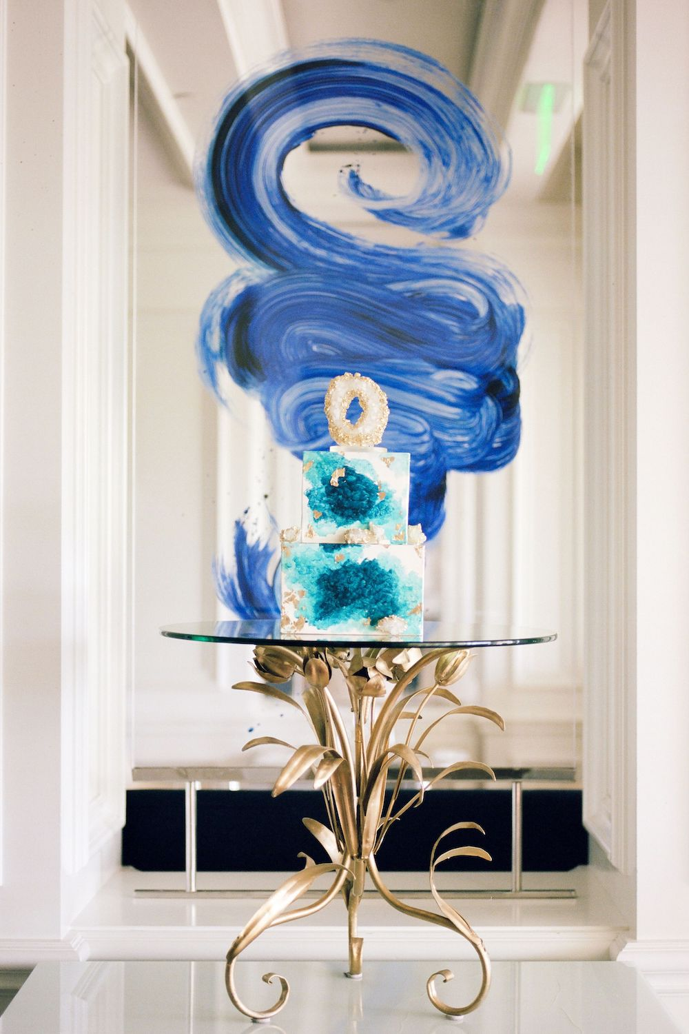 Geode style cake featuring Classic Blue: Color Of The Year