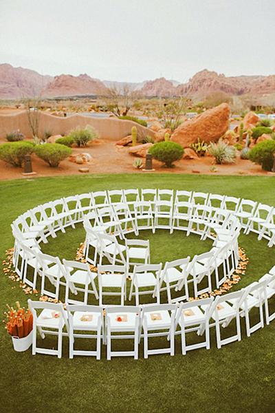 Non-Traditional Ceremony Ideas, garden wedding