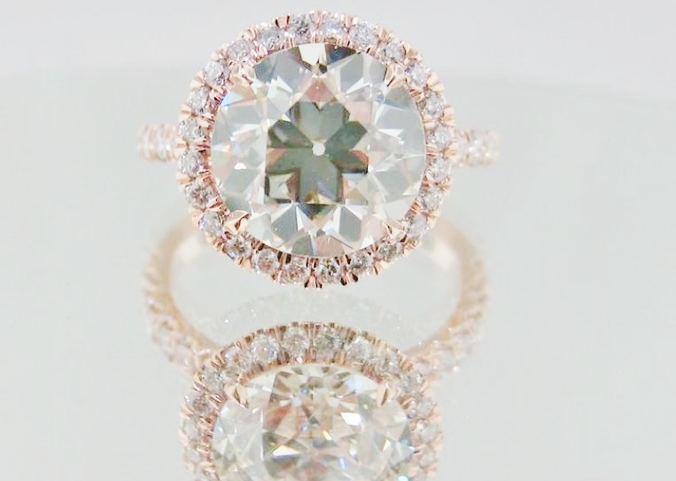 elegant rose gold engagement ring