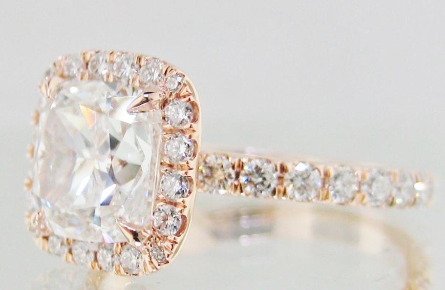 rosegold engagement ring