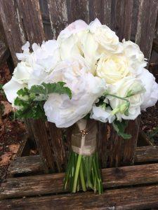 monochromatic wedding details