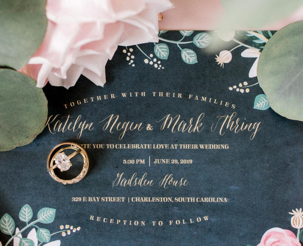 Charlestone, South Carolina Wedding Invitation