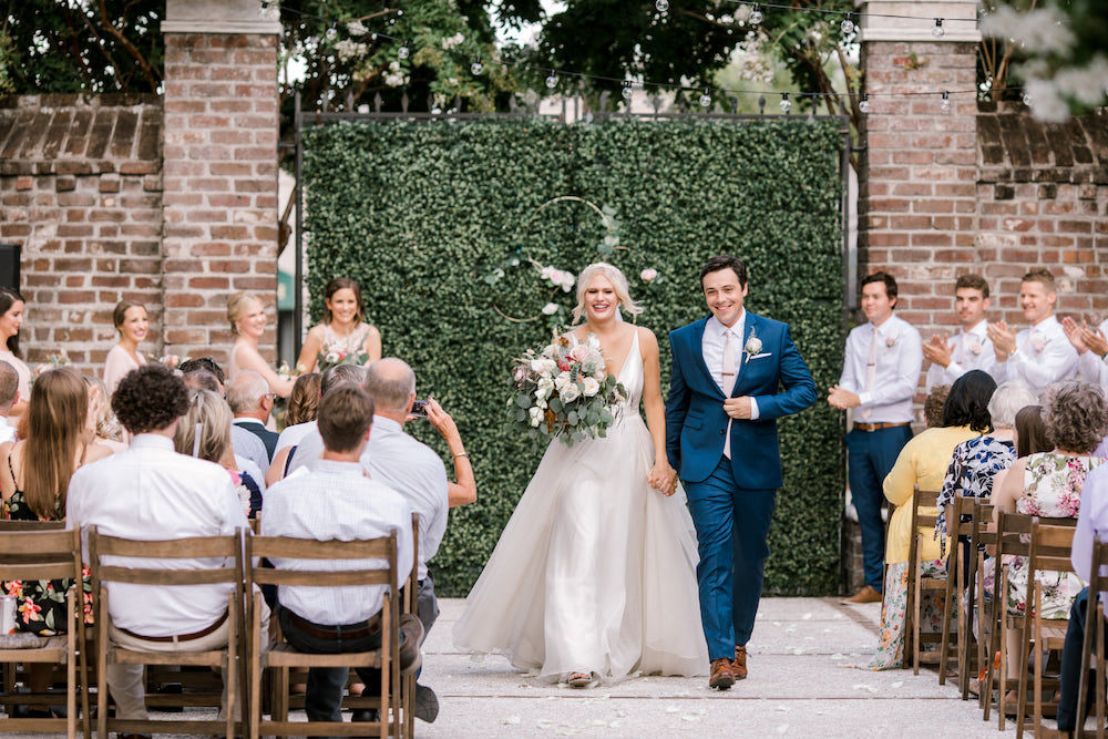 Walking up the aisle as husband and wife