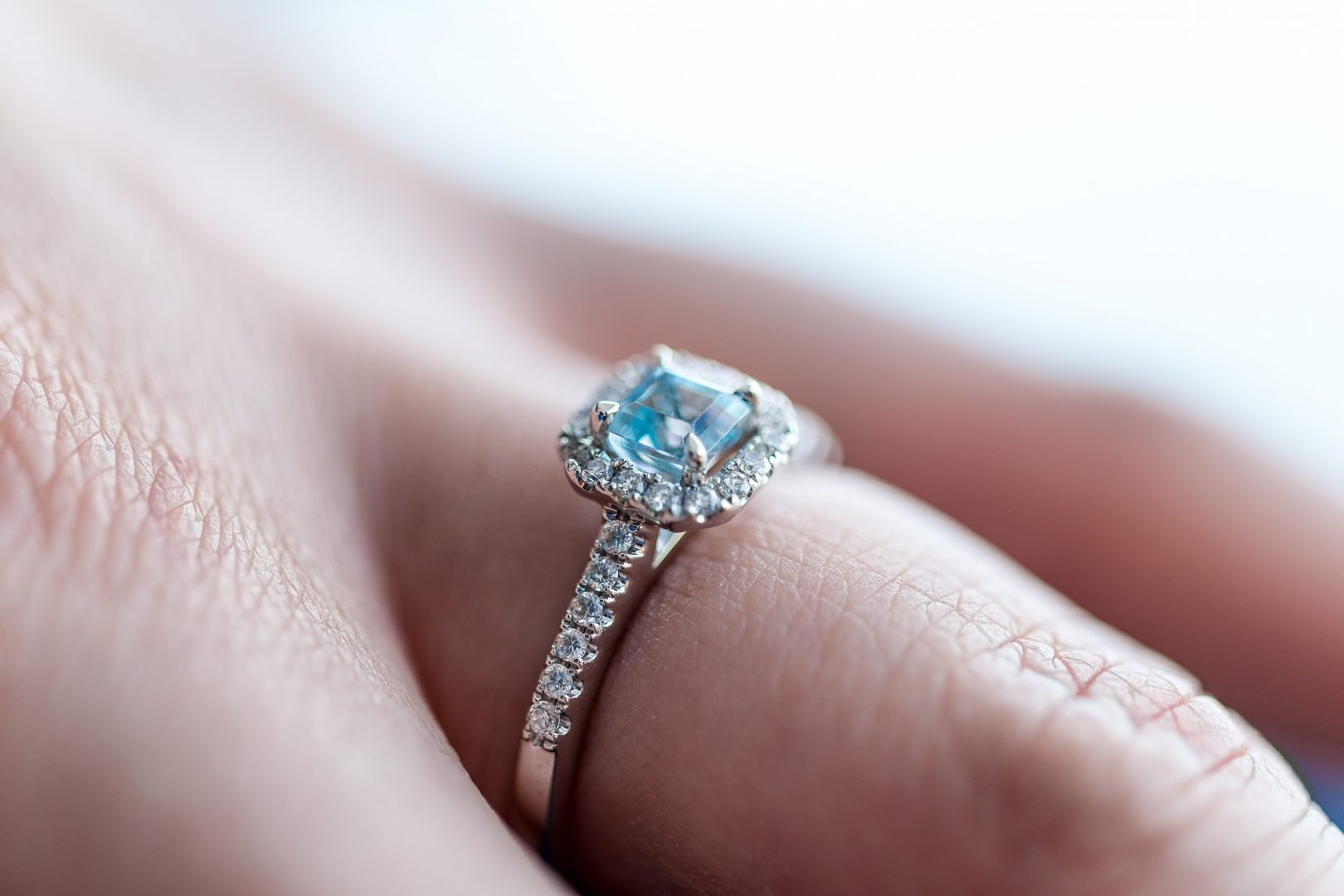 A sparkling ring