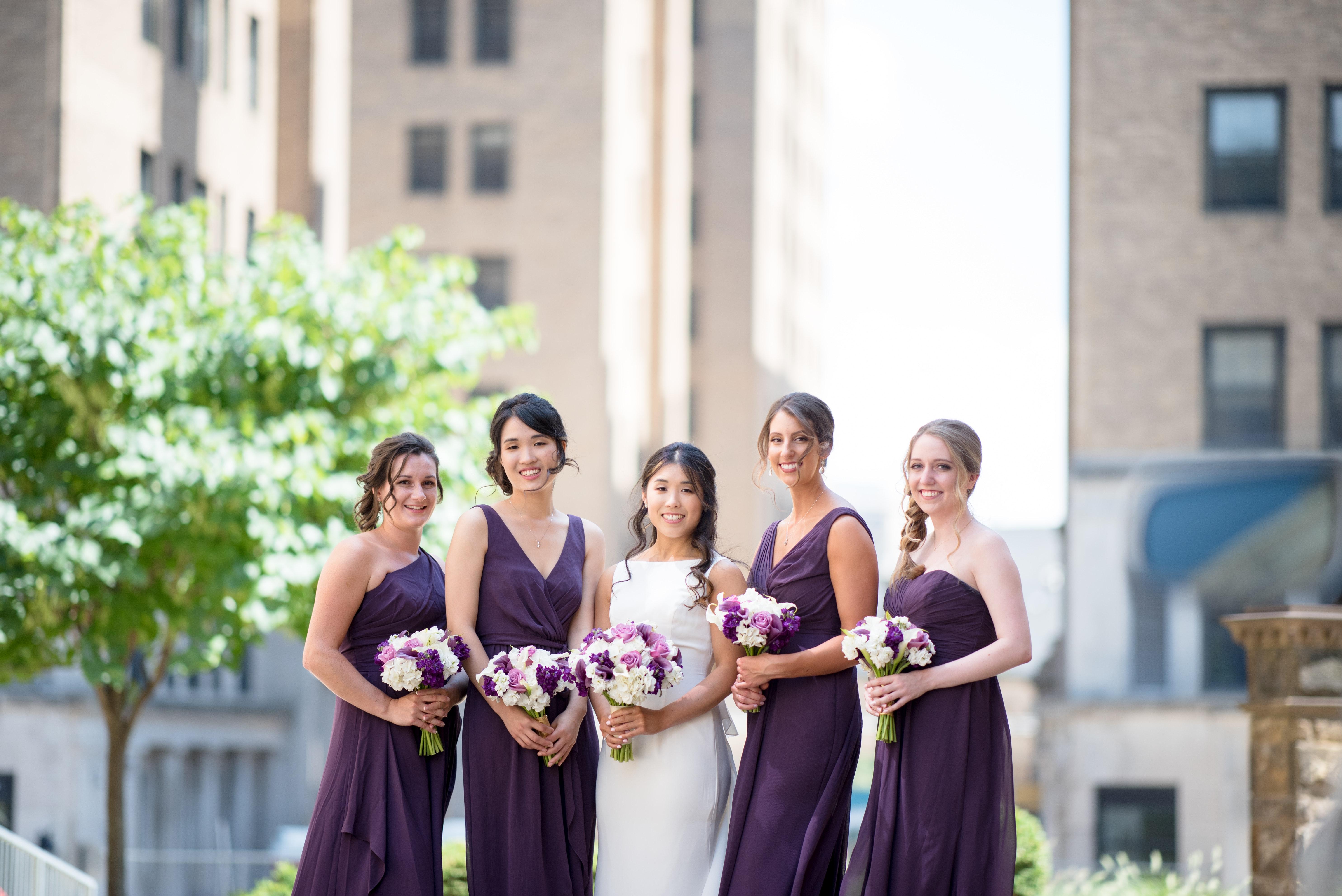 lilac bridesmaid and groom - HD5939×3965