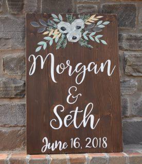 monogrammed wedding details
