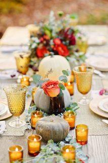 DIY Pumpkin Vase Centerpieces
