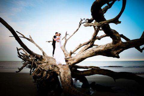 sunset wedding inspiration