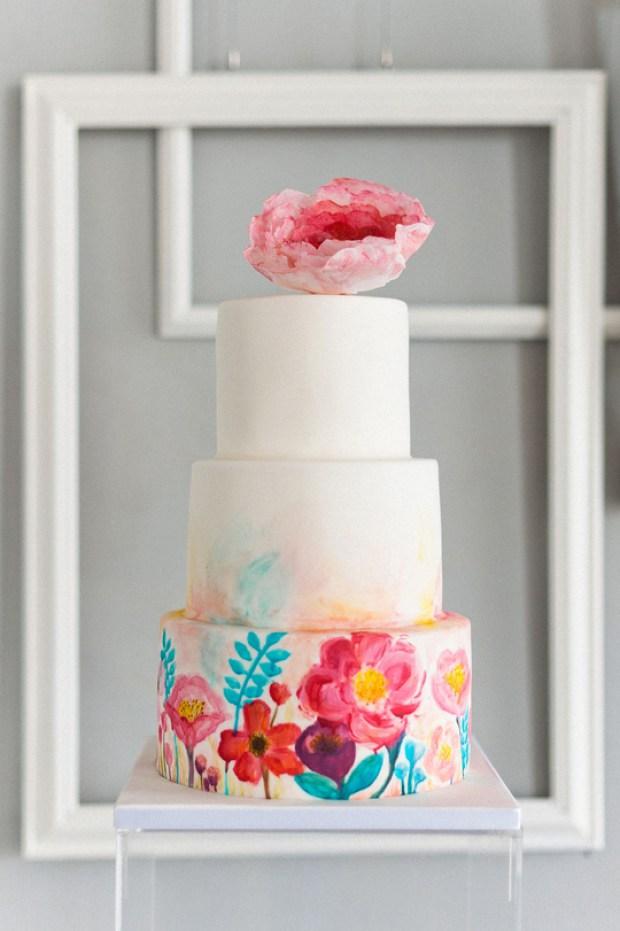 Geometric Wedding Cakes